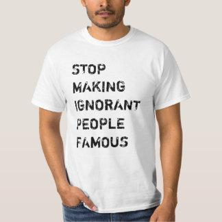 知らない人々に有名なTシャツをすることを止めて下さい Tシャツ
