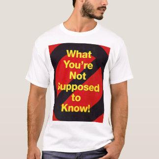 知らない何を Tシャツ