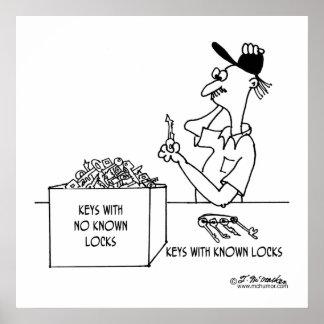 知られていたロック無しの鍵: ポスター