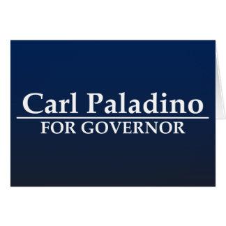 知事のためのカールPaladino カード