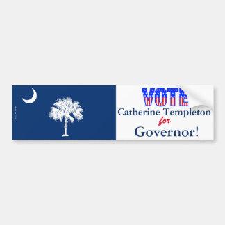 知事のための投票キャサリンTempleton バンパーステッカー
