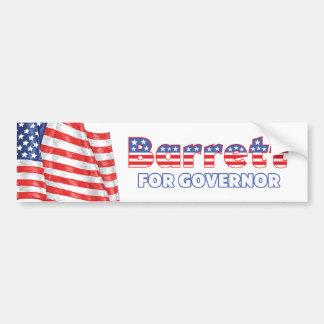 知事の愛国心が強い米国旗のためのBarrett バンパーステッカー
