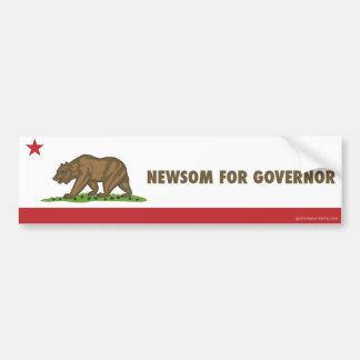 知事カリフォルニア旗のためのNewsom バンパーステッカー