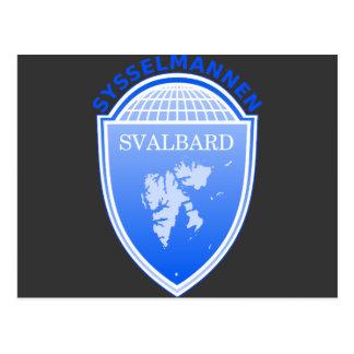 知事スバールバル、ノルウェー ポストカード