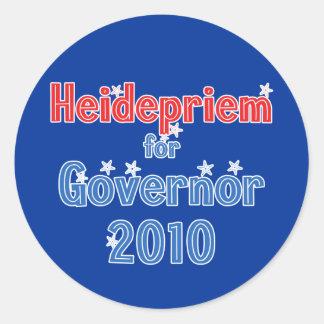 知事2010の星のデザインのためのスコットHeidepriem ラウンドシール