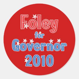 知事2010の星のデザインのためのトムFoley ラウンドシール