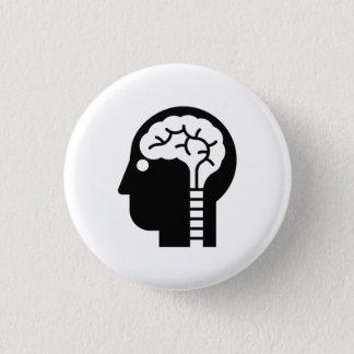 「知力」のピクトグラムボタン 3.2CM 丸型バッジ