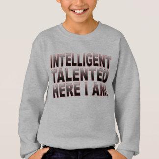 知性があるおよび有能 スウェットシャツ