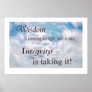 知恵および完全性 ポスター
