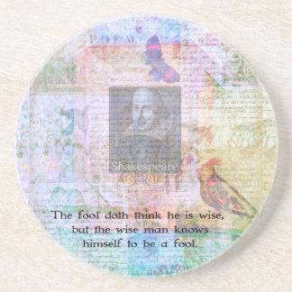 知恵および愚か者についてのウィリアム・シェイクスピアの引用文 コースター