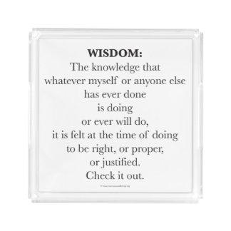 知恵のアクリルの皿 アクリルトレー