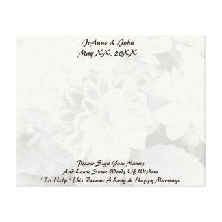 知恵のキャンバスの結婚式の単語 キャンバスプリント
