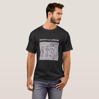 知恵のナゲット。 ユニーク、おもしろい形のナゲットの賛美歌 Tシャツ
