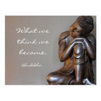 知恵の仏の休息の平和な銀製の単語 ポストカード