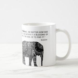 知恵の仏象のマグ コーヒーマグカップ