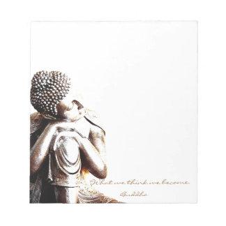 知恵の単語の平和な休息の仏 ノートパッド