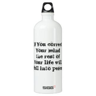 知恵の哲学のタオクールですばらしくシンプルな文 ウォーターボトル