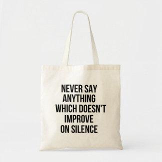 知恵の哲学のタオクールですばらしくシンプルな文 トートバッグ
