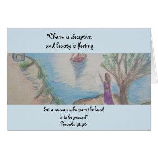 知恵の女性 カード