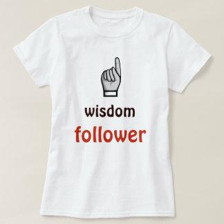 知恵の従節の引用文の白のTシャツ Tシャツ