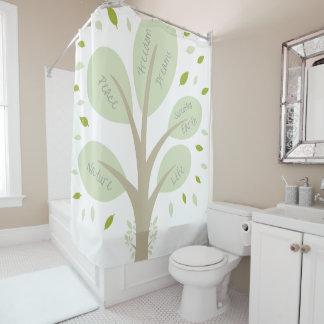 知恵の木 シャワーカーテン