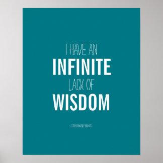 知恵の無限欠乏 ポスター