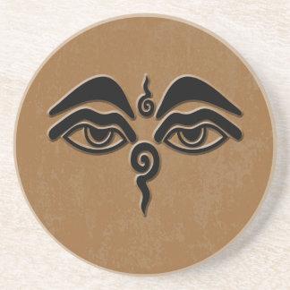 知恵の目-黒 コースター