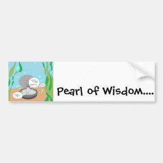 知恵の真珠 バンパーステッカー