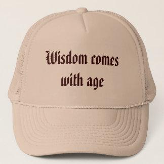 知恵は年齢と来ます キャップ