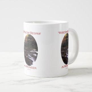 知恵は驚異で始まります ジャンボコーヒーマグカップ