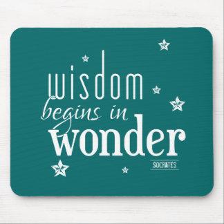 知恵は驚異の引用文で始まります マウスパッド