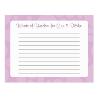 知恵-ゴム製アヒル-のアドバイスカードか単語薄紫 ポストカード