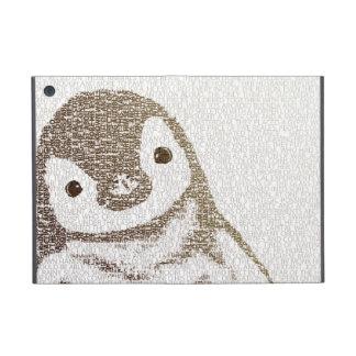 知的なペンギン-タイポグラフィの芸術 iPad MINI ケース