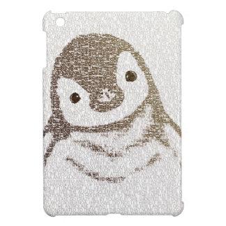 知的なペンギン-タイポグラフィの芸術 iPad MINI CASE