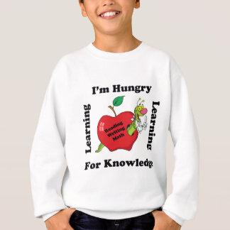 知識のために空腹 スウェットシャツ
