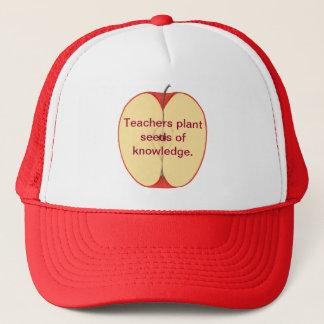 知識の帽子のスライスされたAppleの先生の植物の種 キャップ