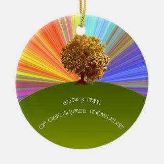 知識の木を育てて下さい セラミックオーナメント