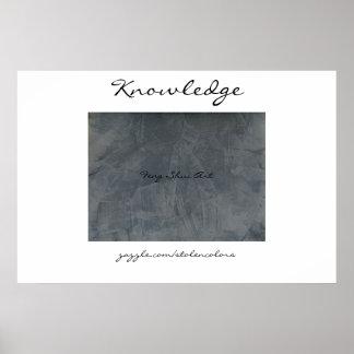 知識の風水の芸術 ポスター