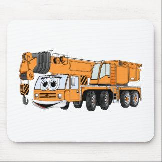 短いオレンジ漫画クレーン マウスパッド