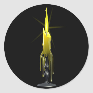 短いワックスの蝋燭のステッカー ラウンドシール