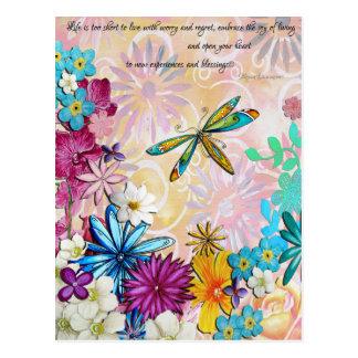 短い生命余りに… 花の郵便はがき ポストカード