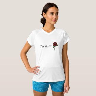 短い袖のばら色のTシャツ Tシャツ