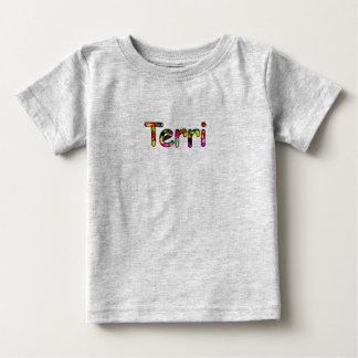 短い袖のスタイルのTerriのt=shirt ベビーTシャツ