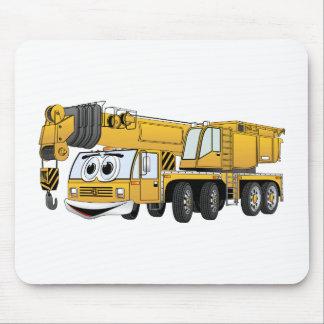 短く黄色い漫画クレーン マウスパッド