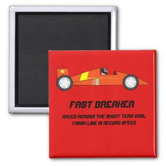 短期ゴールの報酬-レースカーのデザイン マグネット