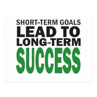 短期ゴールは長期成功か緑をもたらします ポストカード