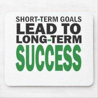 短期ゴールは長期成功か緑をもたらします マウスパッド