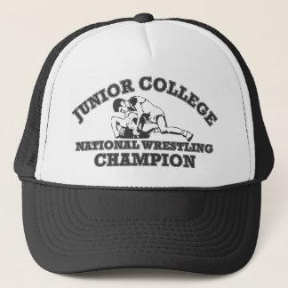 短期大学のレスリングのチャンピオンの帽子 キャップ