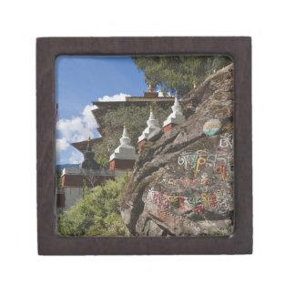 石およびネパールのchortensのBhutaneseの執筆 ギフトボックス