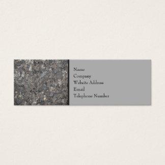 石が付いている地面のイメージ スキニー名刺